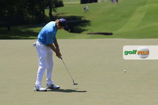 Paul Claxton (USA) putts on the 13th green during Thursday's Round 1 of the 2017 PGA Championship held at Quail Hollow Golf Club, Charlotte, North Carolina, USA. 10th August 2017.<br /> Picture: Eoin Clarke | Golffile<br /> <br /> <br /> All photos usage must carry mandatory copyright credit (&copy; Golffile | Eoin Clarke)