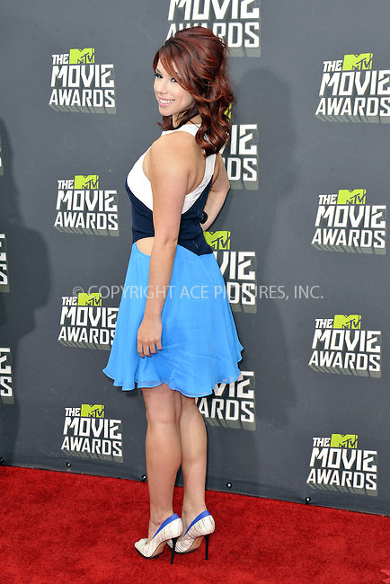 WWW.ACEPIXS.COM....April 14, 2013, Los Angeles, Ca.......Jillian Rose Reed arriving at the 2013 MTV Movie Awards at Sony Pictures Studios on April 14, 2013 in Culver City, California.......By Line: Peter West/ACE Pictures....ACE Pictures, Inc..Tel: 646 769 0430..Email: info@acepixs.com