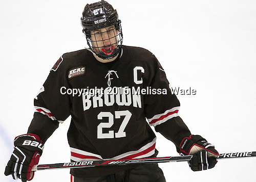 Mark Nacierio (Brown - 27) - The Harvard University Crimson defeated the visiting Brown University Brown Bears 5-2 (EN) on Saturday, November 7, 2015, at Bright-Landry Center in Boston, Massachusetts.