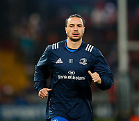 28th December 2019; Thomond Park, Limerick, Munster, Ireland; Guinness Pro 14 Rugby, Munster versus Leinster; James Lowe of Leinster warms up prior to kickoff - Editorial Use