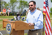 Rob Klee, Commisioner CT DEEP, at the Ribbon Cutting Ceremony for the New Meigs Point Nature Center at Hammonasset Beach State Park. A Connecticut State Project No: BI-T-601 | Northeast Collaborative Architects  Contractor: Secondino & Son