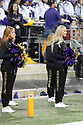 SEATTLE, WA - September 22:  Washington cheerleader Danielle McGinnis entertained fans during the college football game between the Washington Huskies and the Arizona State Sun Devils on September 22, 2018 at Husky Stadium in Seattle, WA. Washington won 27-20 over Arizona State.