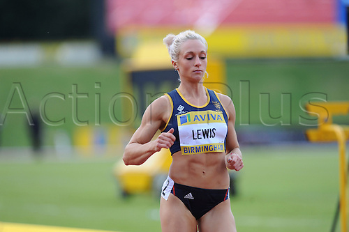 22.06.2012 Birmingham, ENGLAND : Womens 100m Heats, Annabelle Lewis in action during the Aviva Trials at the Alexandra Stadium...