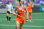The Hague, Netherlands, June 09: During the field hockey group match (Women - Group A) between The Netherlands and Korea on June 9, 2014 during the World Cup 2014 at Kyocera Stadium in The Hague, Netherlands. Final score 3-0 (1-0)  (Photo by Dirk Markgraf / www.265-images.com) *** Local caption *** Marloes Keetels #8 of The Netherlands