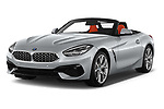 2019 BMW Z4 Sport 2 Door Convertible Angular Front stock photos of front three quarter view
