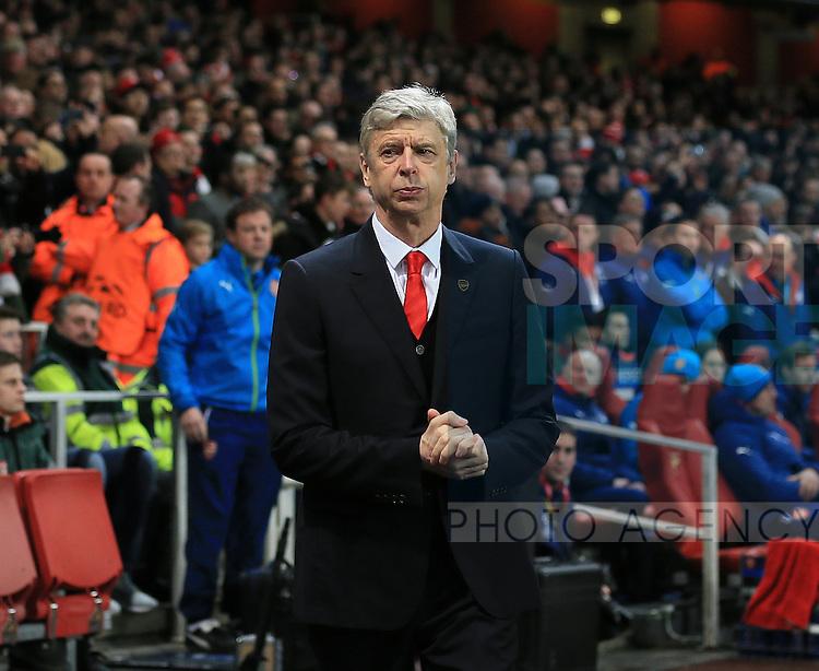 Arsenal's Arsene Wenger looks on <br /> <br /> Champions League - Arsenal  vs AS Monaco  - Emirates Stadium - England - 25th February 2015 - Picture David Klein/Sportimage