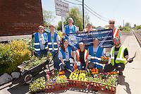 Blythe Bridge volunteers celebrate their achievements at the station.