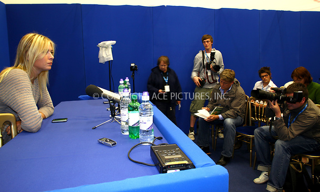 WWW.ACEPIXS.COM . . . . .  ..... . . . . US SALES ONLY . . . . .....June 6 2009, Birmingham, England....Tennis player Maria Sharapova at a press conference for the AEGON Classic at the Edgbaston Priory Tennis Club in Birmingham on June 6 2009 in England....Please byline: FAMOUS-ACE PICTURES... . . . .  ....Ace Pictures, Inc:  ..tel: (212) 243 8787 or (646) 769 0430..e-mail: info@acepixs.com..web: http://www.acepixs.com