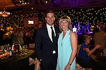 Celebrity Golf @ Golf Live.Gala Dinner.Gethin Jones & Karen Thomas..Celtic Manor Resort.11.05.13.©Steve Pope