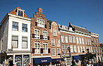 Historic merchant houses in central Utrecht, Netherlands