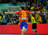 23.01.2013 World Championshio Handball. Match between Spain vs Germay at the stadium Principe Felipe. The picture show  Valero Rivera Folch (Left Wing of Spain).