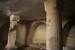 Israel, Shephelah, a Byzantine Burial cave in Park Adulam