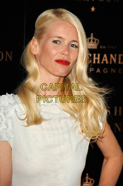 """CLAUDIA SCHIFFER.Moet & Chandon """"Evening of the Moet Mirage"""" Party during London Fashion Week, Opera Holland Park, London, England,16th September 2007..portrait headshot red lipstick white .CAP/PL.©Phil Loftus/Capital Pictures."""