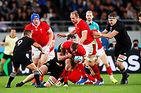 1st November 2019, Tokyo, Japan;  Elliot Dee (WAL) is brought down by the Kiwi pack; 2019 Rugby World Cup 3rd place match between New Zealand 40-17 Wales at Tokyo Stadium in Tokyo, Japan.  - Editorial Use