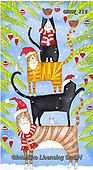 Kate, CHRISTMAS ANIMALS, WEIHNACHTEN TIERE, NAVIDAD ANIMALES, paintings+++++Christmas Dog stacks,GBKM116,#xa# ,cat,cats