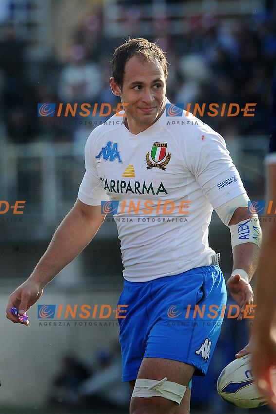 Sergio Parisse (Italia)<br /> Italia vs Francia  22-21<br /> RBS 6 Nations Rugby Championship 2011<br /> Stadio Flaminio;<br /> Roma, 12/03/2011<br /> Photo Antonietta Baldassarre Insidefoto
