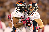 10/15/12 San Diego, CA:Denver Broncos free safety Jim Leonhard #36 and Denver Broncos outside linebacker Wesley Woodyard #52 during an NFL game played between the San Diego Chargers and the Denver Broncos at Qualcomm Stadium. The Broncos defeated the Chargers 35-24.