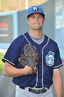 Josh Hungerman #10 of the Asheville Tourists poses during media day at McCormick Field on April 4, 2011 in Asheville, North Carolina.  Photo by Tony Farlow / Four Seam Images..
