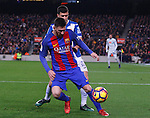 18.12.2016 Leo, Messi in action during game between FC Barcelona against RCD Espanyol at Camp Nou. La liga day 16
