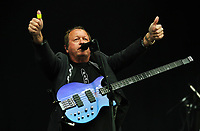 Mark King of Level 42 <br /> UB40 concert at Parc Y Scarlets, Llanelli, Wales, UK. Saturday 10 June 2017