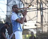 MIAMI GARDENS FL - MARCH 17: Troy Andrews aka Trombone Shorty performs during Day 1 at Jazz In The Gardens at Hand Rock Stadium on March 17, 2018 in Miami Gardens, Florida. : Credit Larry Marano © 2018
