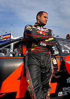 Feb 10, 2007; Daytona, FL, USA; Nascar Nextel Cup driver Juan Pablo Montoya (42) during practice for the Daytona 500 at Daytona International Speedway. Mandatory Credit: Mark J. Rebilas