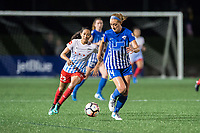 Boston, MA - Friday July 07, 2017: Christen Press, Megan Oyster during a regular season National Women's Soccer League (NWSL) match between the Boston Breakers and the Chicago Red Stars at Jordan Field.