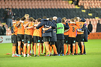 Barnet team huddle during Barnet vs Stockport County, Emirates FA Cup Football at the Hive Stadium on 2nd December 2018