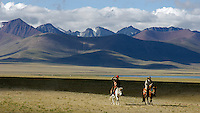 Images from the Book Journey Through Colour and Time<br /> Horseman in Tibet at 4850 meters