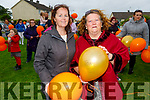 Mary Boylan Lyne and Helen Kearney attending the Comfort for Chemo balloon release fundraiser in Casements Avenue, Ardfert on Sunday evening