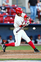 July 23rd 2008:  David Paisano of the Spokane Indians, Short Season Class-A affiliate of the Texas Rangers, during a game at Home of the Avista Stadium in Spokane, WA.  Photo by:  Matthew Sauk/Four Seam Images
