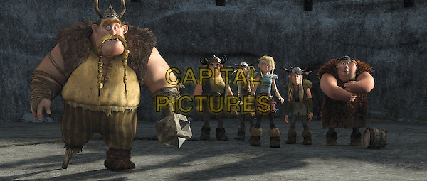 CRAIG FERGUSON (GEBBER), JONAH HILL (SNOTLUT), KRISTIN WIIG (RUFFNUT), AMERICA FERRERA (ASTRID), TJ MILLER (TUFFNUT), CHRISTOPHER MINTZ-PLASSE (FISHLEGS).in How to Train Your Dragon .*Filmstill - Editorial Use Only*.CAP/FB.Supplied by Capital Pictures.