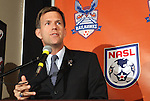 12 April 2012: RailHawks President Curt Johnson. The Carolina RailHawks held a Fan Forum at Backyard Bistro in Raleigh, NC.