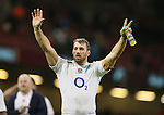 Chris Robshaw of England celebrates the win - RBS 6Nations 2015 - Wales  vs England - Millennium Stadium - Cardiff - Wales - 6th February 2015 - Picture Simon Bellis/Sportimage