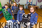 Dáithí O'Regan, Aoife Kelliher, Bradley fontes, Faith Peskett from the First Kerry Scout Unit launch an appeal for Old Jumble over the Month of Februray
