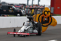 Sep 28, 2013; Madison, IL, USA; NHRA top fuel dragster driver Billy Torrence during qualifying for the Midwest Nationals at Gateway Motorsports Park. Mandatory Credit: Mark J. Rebilas-