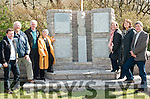 Members of the Ashe family and members of Coiste Cuimhneachain Thomas Aghas at the unveiling of the monument to Tomas Aghas in Kinard on Saturday. From left: Tony Bergin, Matthew Griffin, Micheal Ó Murain, Eileen Ashe, Maire Uí Ghrifín, Mairéad Aghas Uí Mhuircheartaigh and Risteard MacEoin.