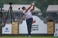 Jhonattan Vegas (VEN) watches his tee shot on 11 during day 3 of the Valero Texas Open, at the TPC San Antonio Oaks Course, San Antonio, Texas, USA. 4/6/2019.<br /> Picture: Golffile | Ken Murray<br /> <br /> <br /> All photo usage must carry mandatory copyright credit (&copy; Golffile | Ken Murray)