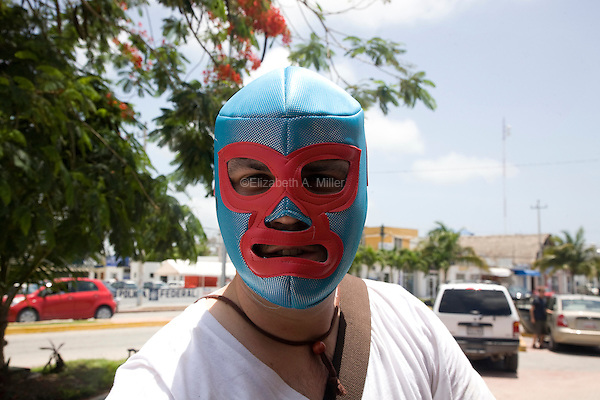 A Mexican wrestling mask.
