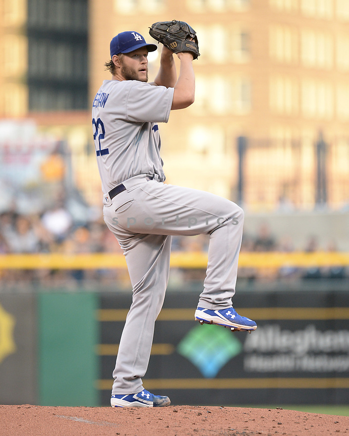 Los Angeles Dodgers Clayton Kershaw (22) during a game against the Pittsburgh Pirates on June 26, 2016 at PNC Park in Pittsburgh, PA. The Dodgers beat the Pirates 4-3.