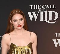 "13 February 2020 - Hollywood, California - Karen Gillan. ""The Call of the Wild"" Twentieth Century Studios World Premiere held at El Capitan Theater. Photo Credit: Dave Safley/AdMedia /MediaPunch"