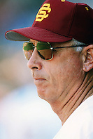 USC Trojans Head Coach Mike Gillespie during a 1996 NCAA baseball season game at Dedeaux Field in Los Angeles, California. (Larry Goren/Four Seam Images)