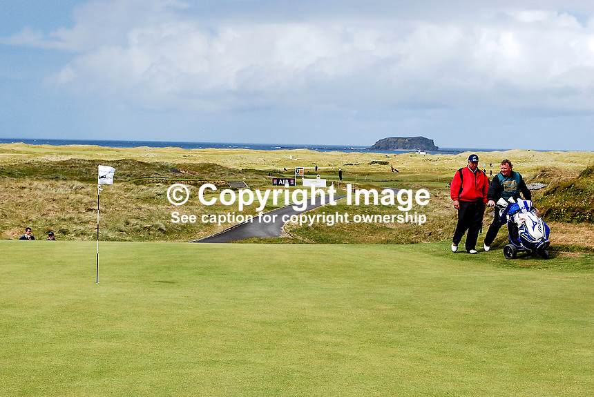 GV, Links Course, Ballyliffin Golf Club, Co Donegal, Ireland, with Glashedy Island on the horizan and after which one of the courses is named. 200806190254..Copyright Image from Victor Patterson, 54 Dorchester Park, Belfast, UK, BT9 6RJ..Tel: +44 28 9066 1296.Mob: +44 7802 353836.Voicemail +44 20 8816 7153.Skype: victorpattersonbelfast.Email: victorpatterson@mac.com.Email: victorpatterson@ireland.com (back-up)..IMPORTANT: If you wish to use this image or any other of my images please go to www.victorpatterson.com and click on the Terms & Conditions. Then contact me by email or phone with the reference number(s) of the image(s) concerned.