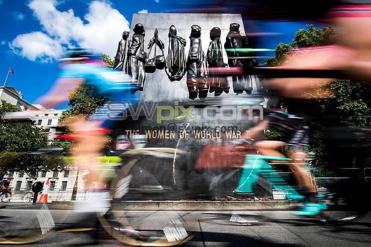 Picture by Alex Whitehead/SWpix.com - 11/06/2017 - Cycling - OVO Energy Women's Tour - Stage 4: The London Stage - Riders travel past the Monument to the Women of World War II.