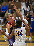 A photograph from the Spanish Springs Cougars at Reed Raiders girls basketball game played on Friday night, February 10, 2017 at Reed High School in Sparks, Nevada.