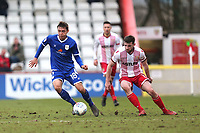 Harry Pickering of Crewe Alexandra and Danny Newton of Stevenage during Stevenage vs Crewe Alexandra, Sky Bet EFL League 2 Football at the Lamex Stadium on 10th March 2018