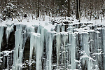 Icicles in winter, North Adams, Berkshires, Massachusetts
