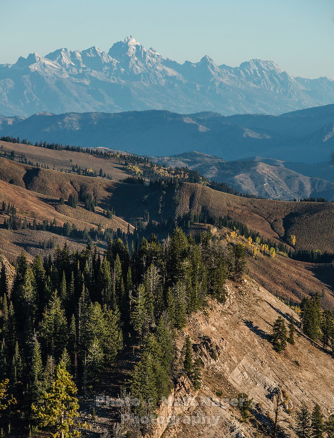 Greyback Ridge in the Hoeback Drainage of Wyoming Region H, with Teton National Park in the background in Wyoming, September 21, 2015.<br /> <br /> Photo by Matt Nager