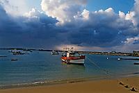 Europe/France/Bretagne/29/Finistère/Ile de Batz: Bateau de pêches sur la plage