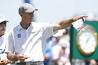 Jim Furyk (USA) waits to tee off on the first hole during the final round of the 118th U.S. Open Championship at Shinnecock Hills Golf Club in Southampton, NY, USA. 17th June 2018.<br /> Picture: Golffile | Brian Spurlock<br /> <br /> <br /> All photo usage must carry mandatory copyright credit (&copy; Golffile | Brian Spurlock)